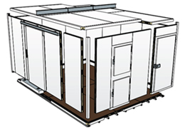 diagram of modular cold room panels