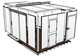diagram of modular cold room panels