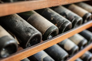 Vintage wine in climate controlled cold storage