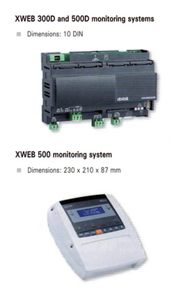 XWEB 300 and 500D centralized refrigeration monitoring